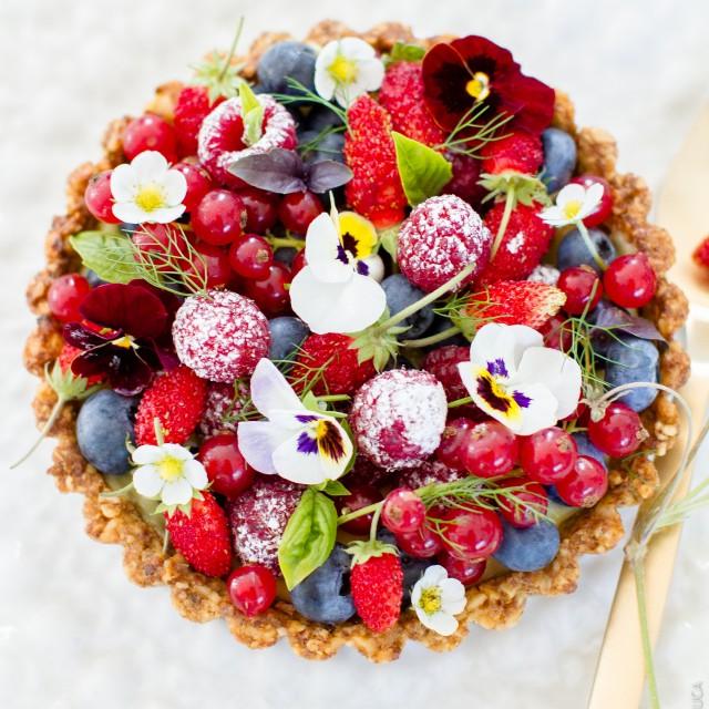 Tarte sans gluten aux fruits rouges