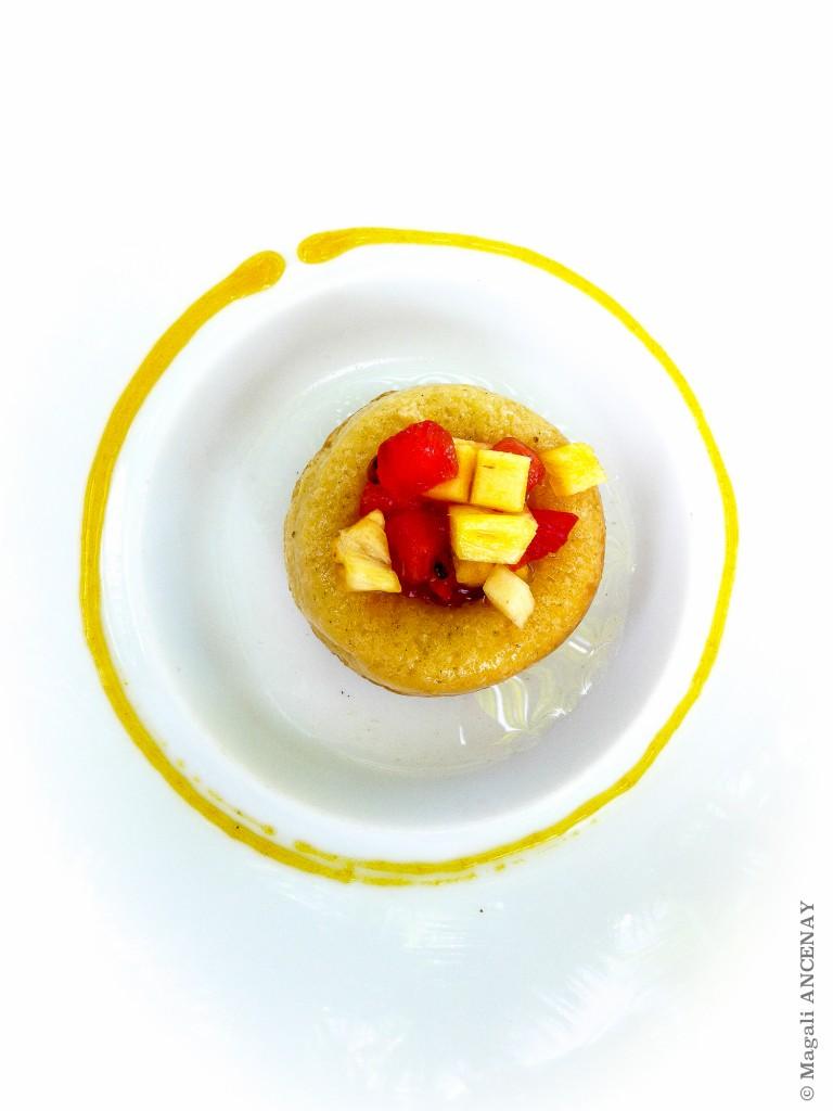 Baba aux fruits exotiques