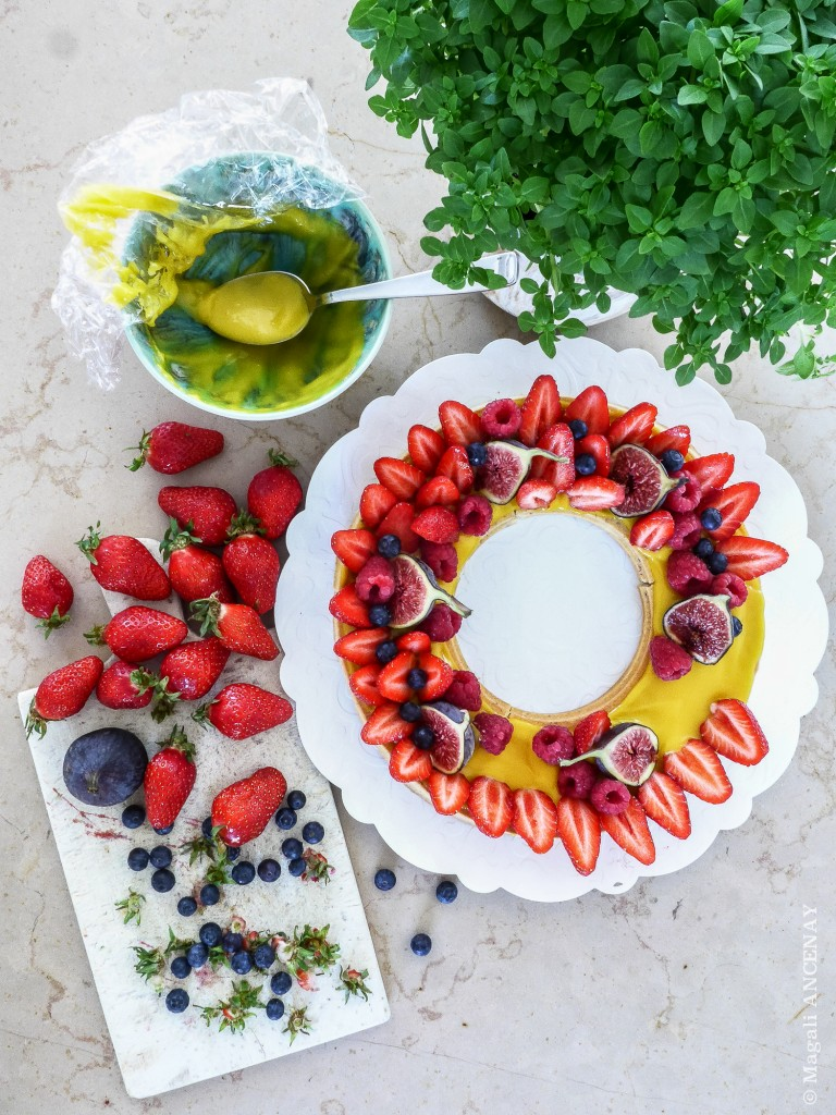 Tarte couronne de fruits rouges-2