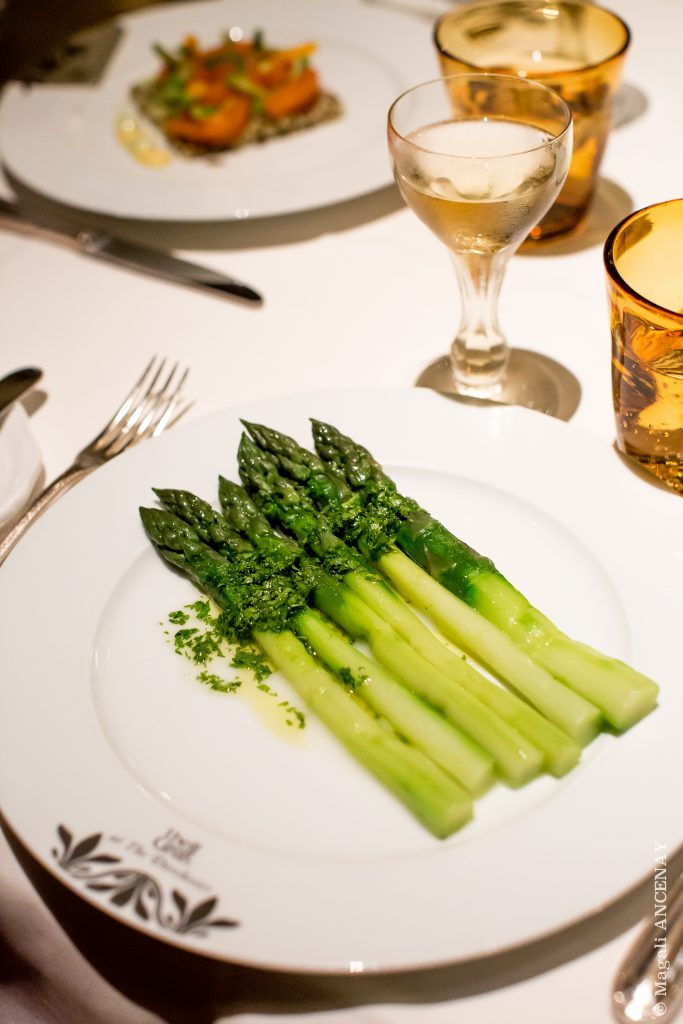 """Wye Valley"" green asparagus, herb dressing ""Wye Valley"" asperges vertes, vinaigrette d'herbes"