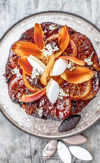 Gâteau vegan à l'orange et à l'amande