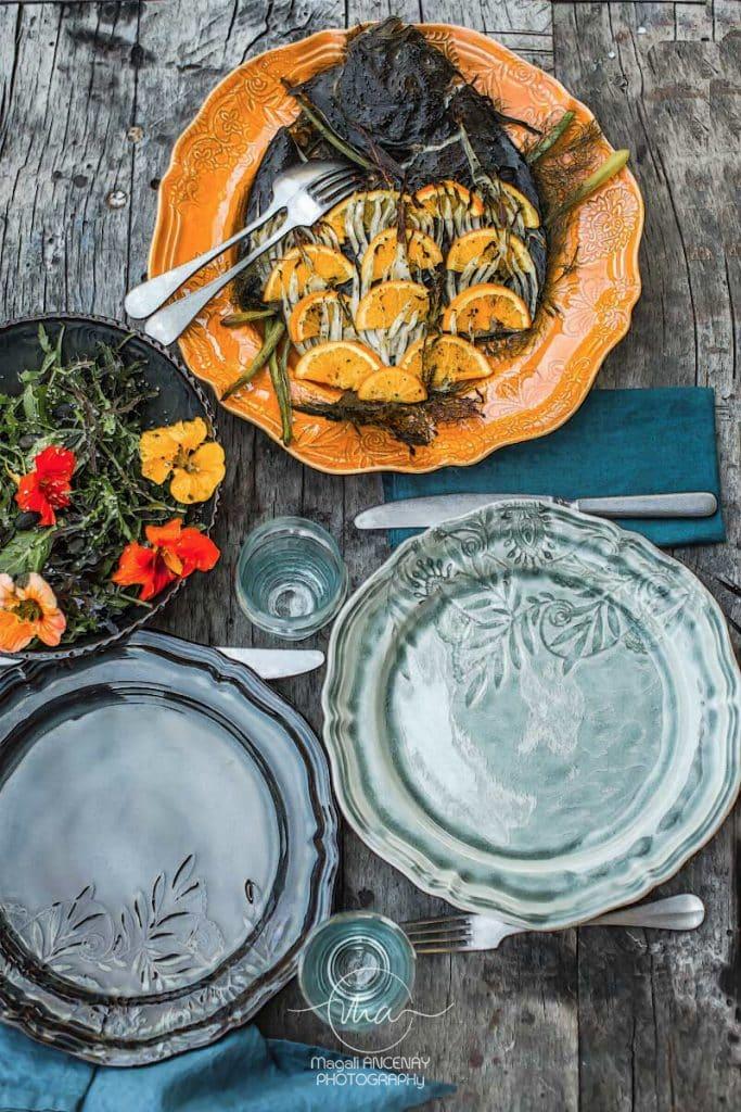 turbo en écailles d'orange et fenouil - Magali ANCENAY Photographe Culinaire