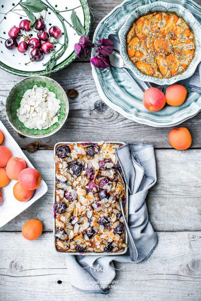 Clafoutis Amande cerises  - Magali ANCENAY AGENCY-Photographe Culinaire
