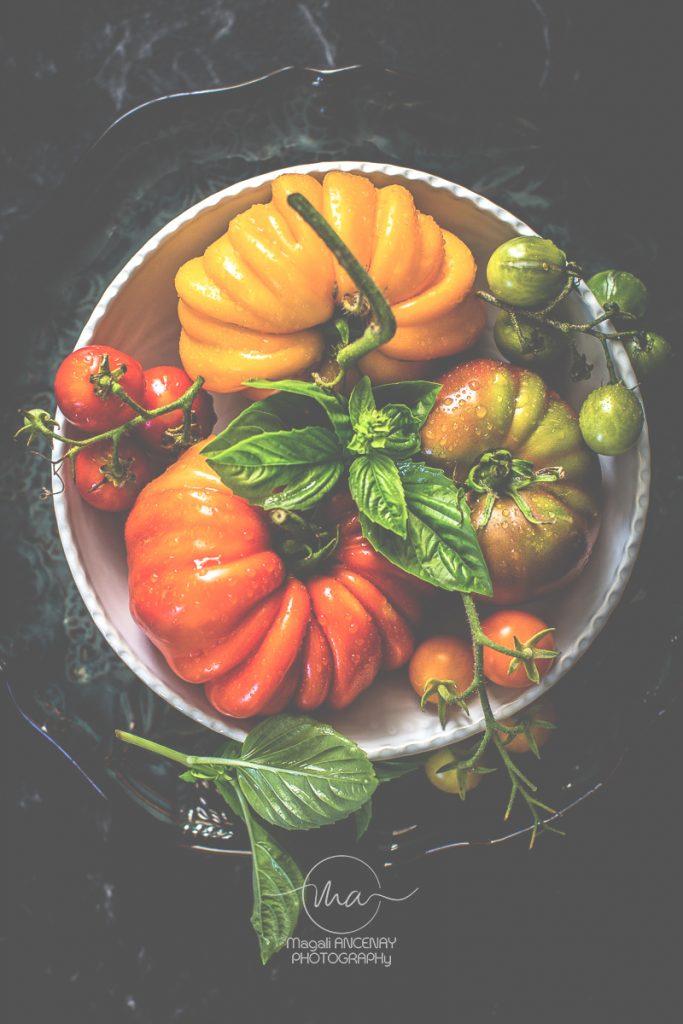 tomates de saisons -  Magali ANCENAY photographe culinaire