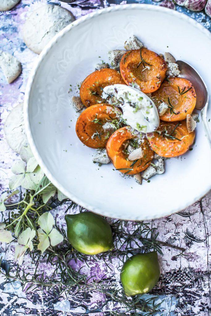 abricots grillés romarin citron vert Magali ANCENAY Photographe Culinaire