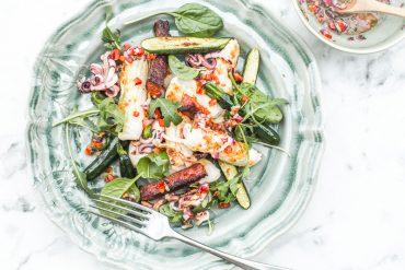 calamars grillés chorizo et vinaigrette salmoriglio - Magali ANCENAY photographe culinaire