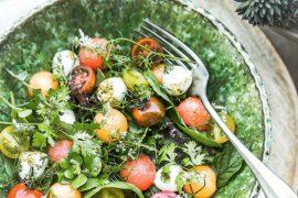 Salade Melon Pastéque Mozza Tomates - Magali ANCENAY photographe culinaire