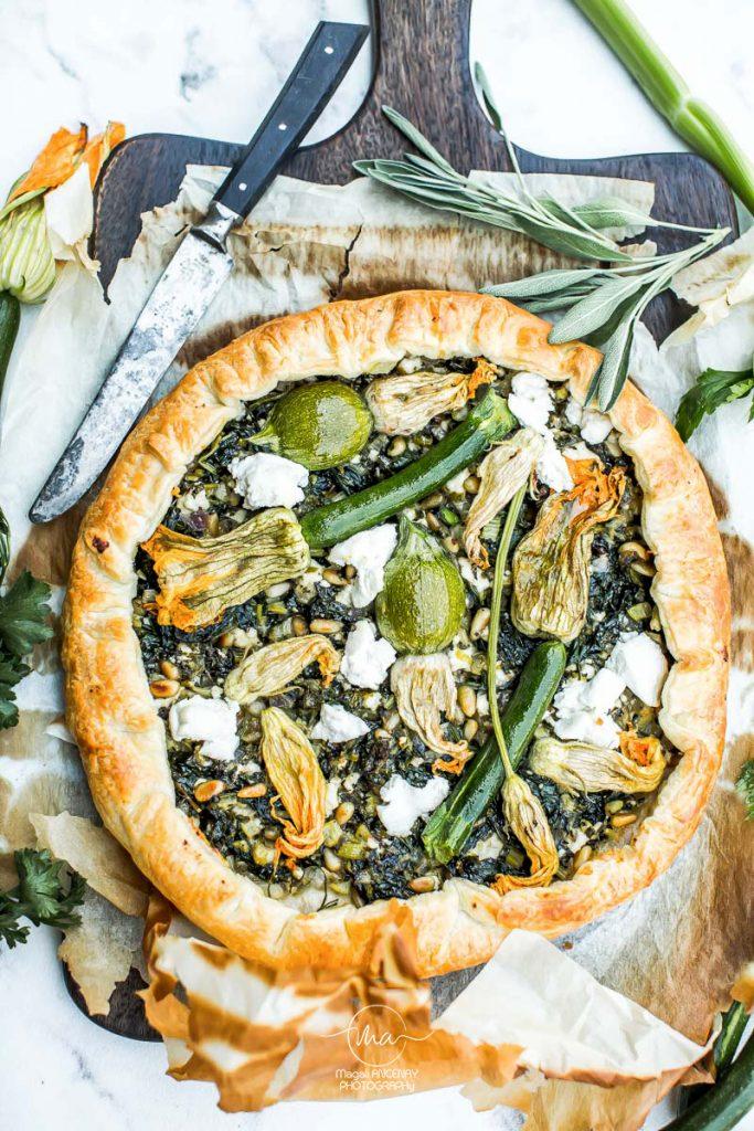 tarte corse aux fleurs de courgettes - Magali ANCENAY photographe culinaire