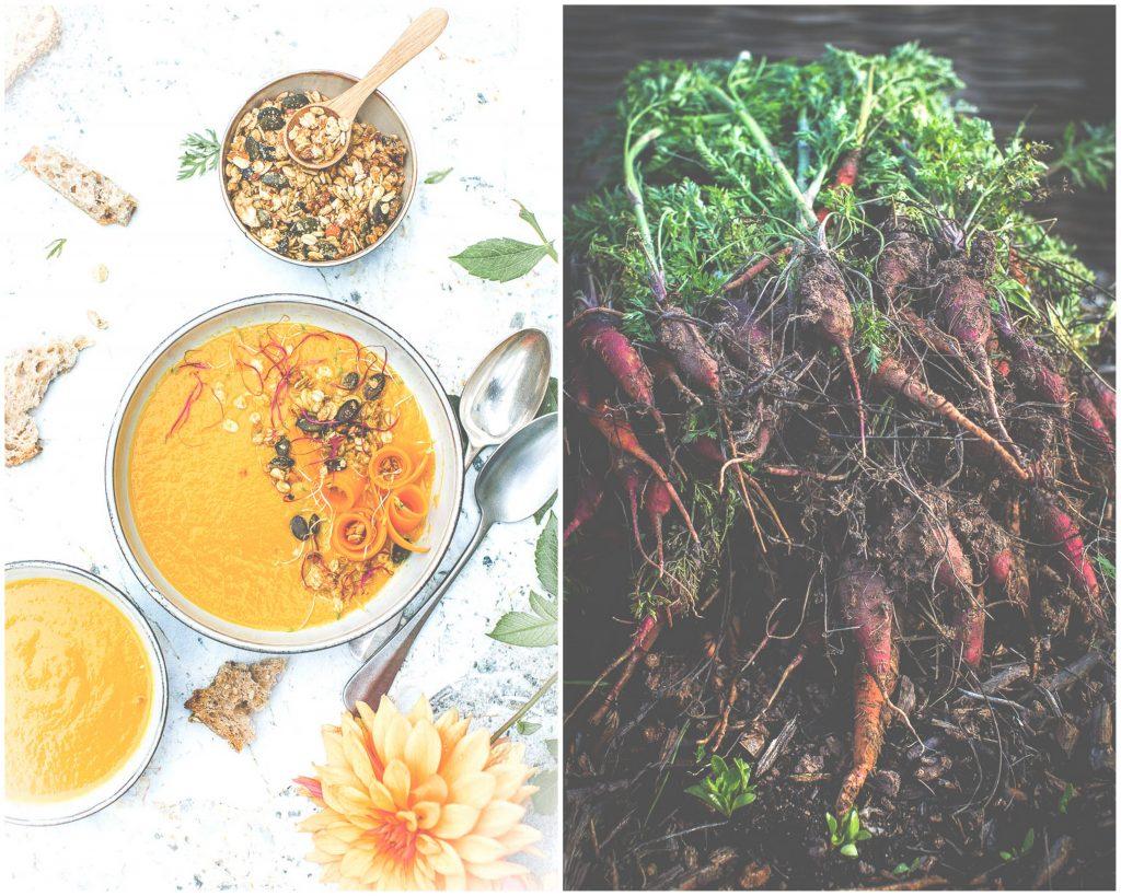Soupe de carottes , orange et cumin - Magali ANCENAY Photographe Culinaire