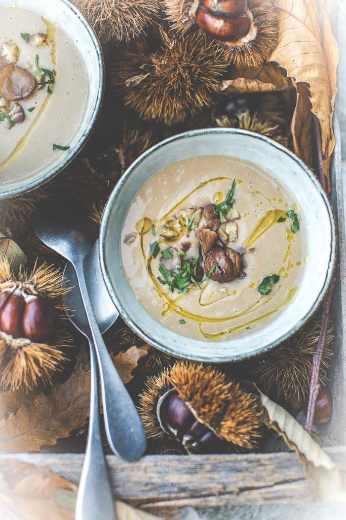 Soupe de châtaignes - Magali ANCENAY Photographe Culinaire