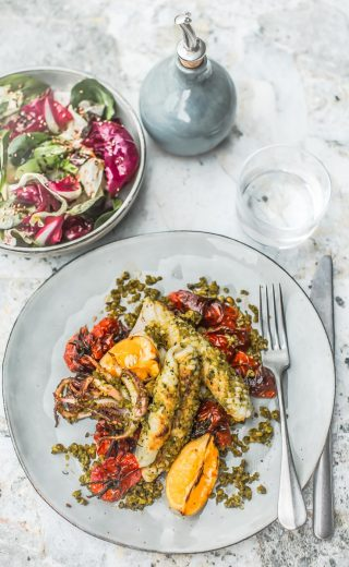 Salade de calamars grillés