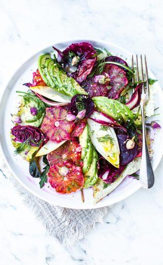 Salade aux fruits d'hiver