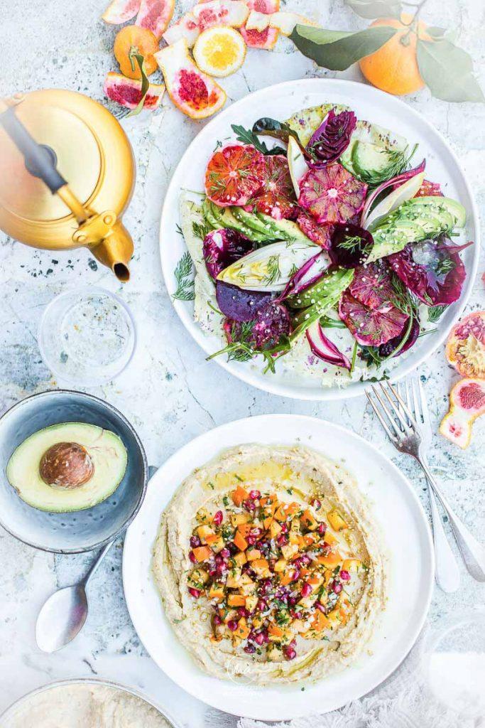 Salade aux fruits d'hiver - Magali ANCENAY PHOTOGRAPHE Culinaire